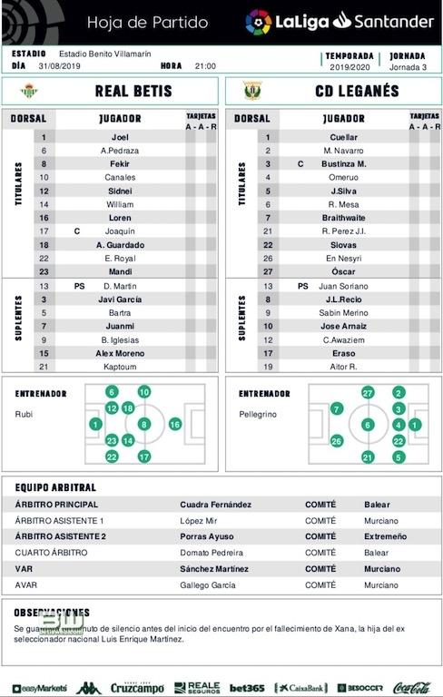 J3 Betis - Leganes 0