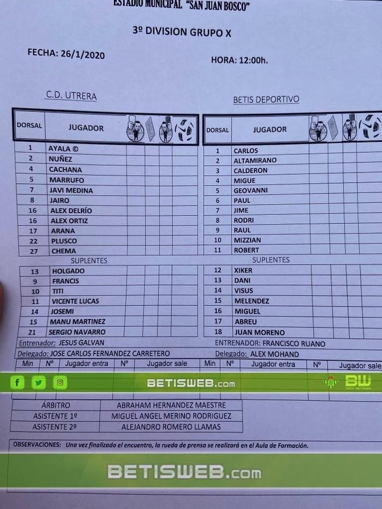zJ22 Utrera - Betis deportivo 0